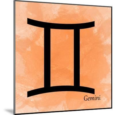 Gemini - Orange-Veruca Salt-Mounted Art Print