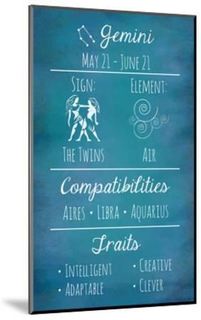 Gemini Zodiac Sign-Veruca Salt-Mounted Art Print