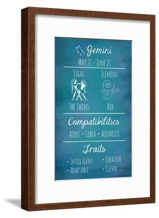 Gemini Zodiac Sign-Veruca Salt-Framed Art Print