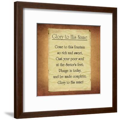 Glory To His Name-Veruca Salt-Framed Art Print