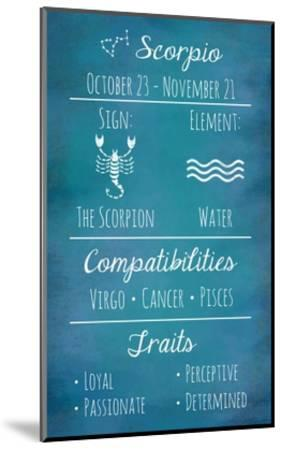 Scorpio Zodiac Sign-Veruca Salt-Mounted Art Print