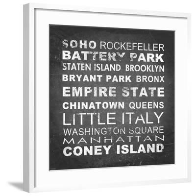 New York Places II-Veruca Salt-Framed Art Print