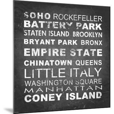 New York Places II-Veruca Salt-Mounted Art Print