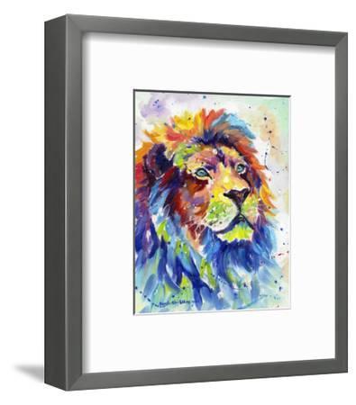 Colorful African Lion-Sarah Stribbling-Framed Art Print