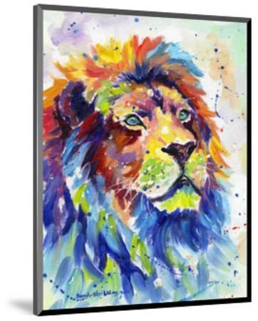 Colorful African Lion-Sarah Stribbling-Mounted Art Print