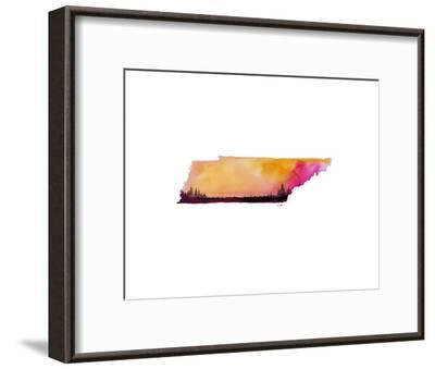 Tennessee State Watercolor-Jessica Durrant-Framed Art Print