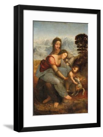 The Virgin and Child with Saint Anne-Leonardo Da Vinci-Framed Premium Giclee Print