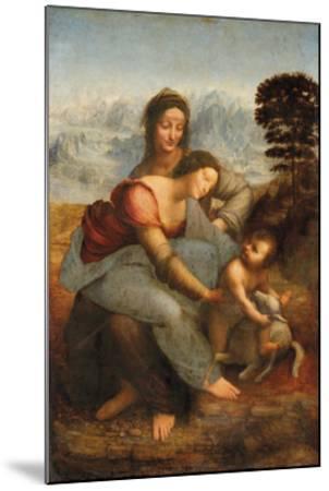 The Virgin and Child with Saint Anne-Leonardo Da Vinci-Mounted Premium Giclee Print