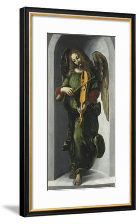 An Angel in Green with a Vielle-Leonardo Da Vinci-Framed Premium Giclee Print