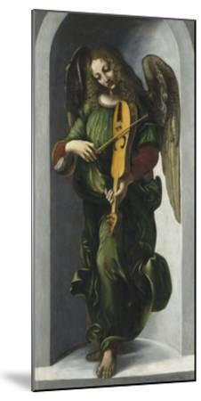 An Angel in Green with a Vielle-Leonardo Da Vinci-Mounted Premium Giclee Print