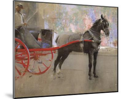 The Flower Shop-Joseph Crawhall-Mounted Premium Giclee Print