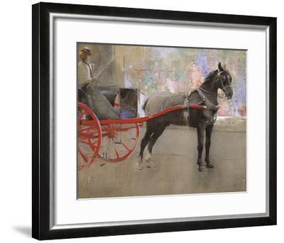 The Flower Shop-Joseph Crawhall-Framed Premium Giclee Print