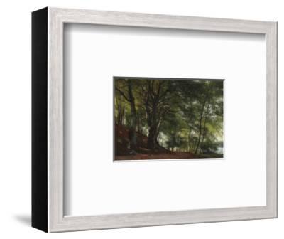 Forest Scene from Soro, Denmark-Carl Frederic Aagaard-Framed Premium Giclee Print