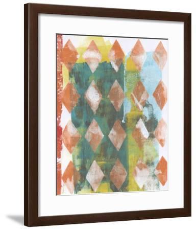 Harlequin Abstract III-Naomi McCavitt-Framed Giclee Print