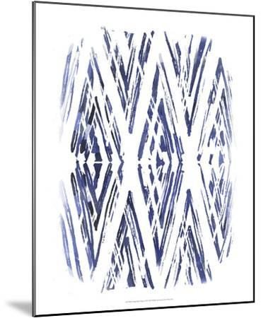 Indigo Batik Vignette VI-June Erica Vess-Mounted Art Print