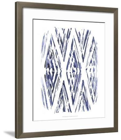 Indigo Batik Vignette VI-June Erica Vess-Framed Art Print