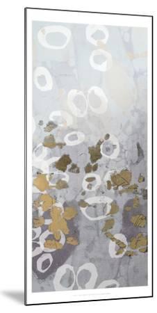 Metallic Foil Golden Droplets II-Jennifer Goldberger-Mounted Art Print