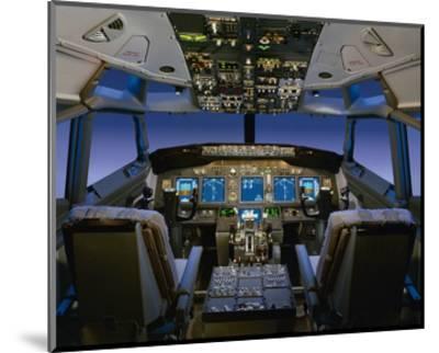 737 pilot-centered flight deck--Mounted Premium Giclee Print