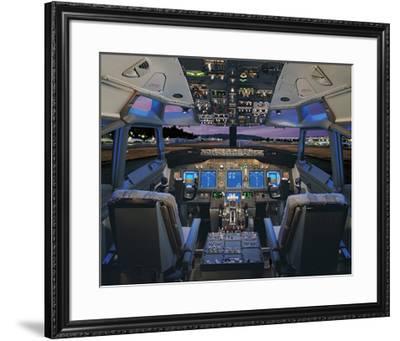 737 pilot-centered flight deck--Framed Premium Giclee Print