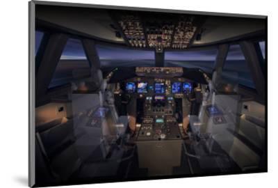 747-8 Flight Deck--Mounted Art Print