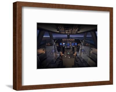 747-8 Flight Deck--Framed Art Print
