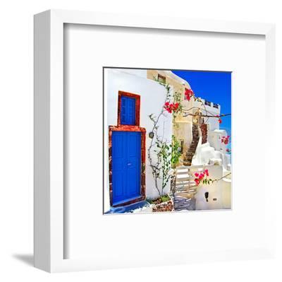 Blue SantoriniII--Framed Art Print