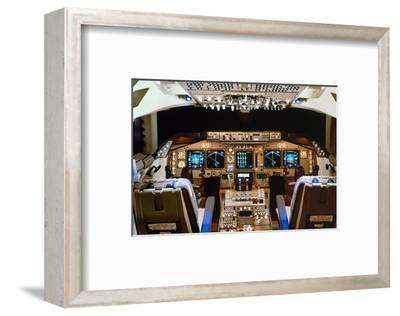 Boeing 747 digital Flight Deck--Framed Art Print