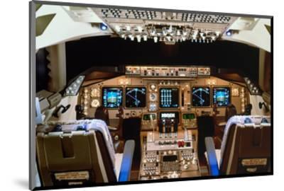 Boeing 747 digital Flight Deck--Mounted Art Print