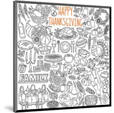 Happy Thanksgiving Coloring Art--Mounted Coloring Poster