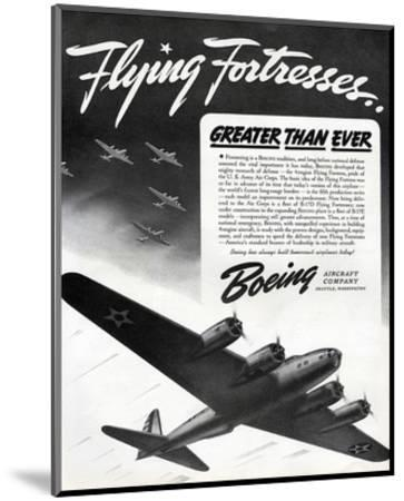 Flying Fortresses Boeing ad--Mounted Art Print