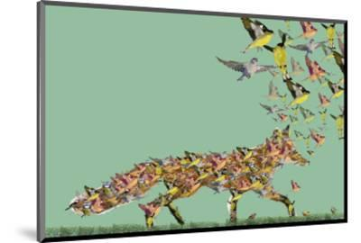 Fox of birds-Claire Westwood-Mounted Art Print