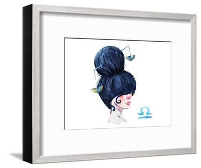 Libra Girl--Framed Art Print