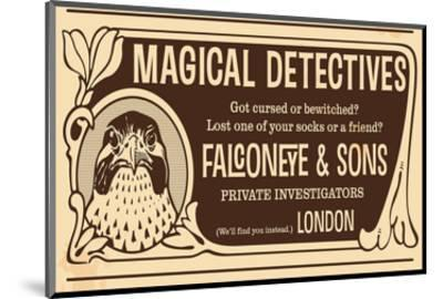 Magical Detectives Falconeye--Mounted Premium Giclee Print