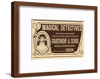Magical Detectives Falconeye--Framed Premium Giclee Print