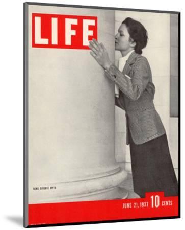 LIFE Reno Divorce Myth 1937--Mounted Art Print