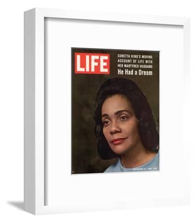 LIFE Coretta 'He had a dream'--Framed Art Print