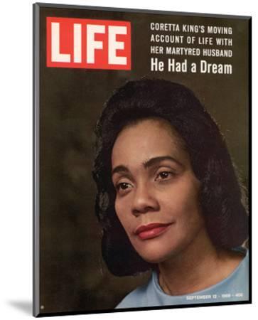 LIFE Coretta 'He had a dream'--Mounted Art Print