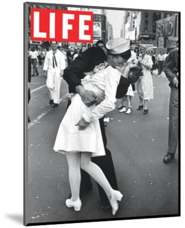 LIFE VJ Day Soldier Kissing girl--Mounted Art Print