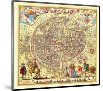 Paris Map by Rossingol 1576--Mounted Art Print