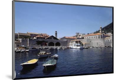 Port of Old City of Dubrovnik--Mounted Art Print