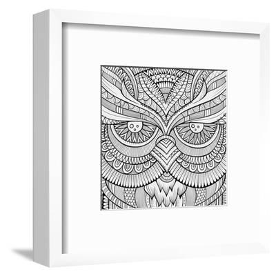 Symmetric Wing Arches Coloring Art--Framed Premium Giclee Print