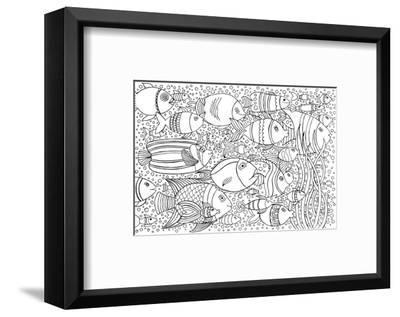 Tropical Fish Coloring Art--Framed Premium Giclee Print