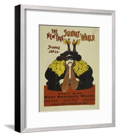 The New York Sunday World--Framed Art Print