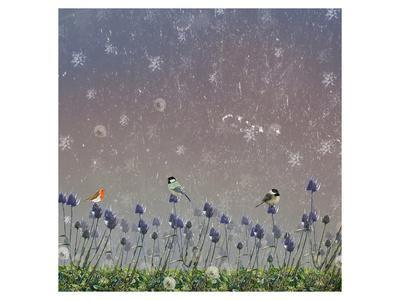 Snowy sky 3-Claire Westwood-Framed Art Print