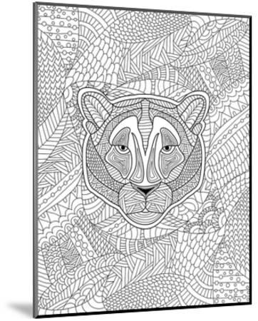 Tiger & Jungle Design Coloring Art--Mounted Coloring Poster