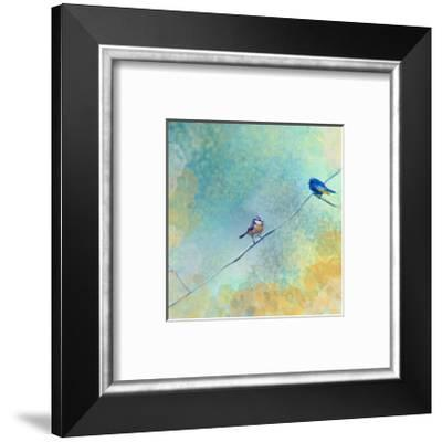 Two birds-Claire Westwood-Framed Art Print