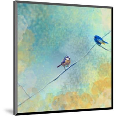 Two birds-Claire Westwood-Mounted Art Print