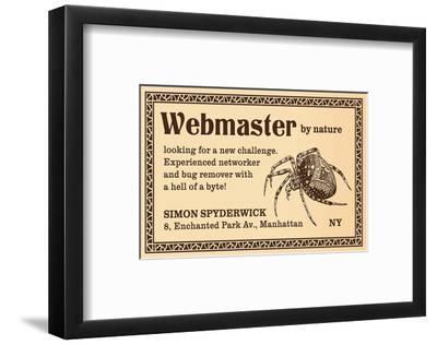 Webmaster--Framed Art Print