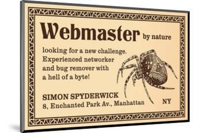 Webmaster--Mounted Art Print