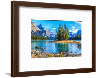 Spirit Island Lake Maligne--Framed Art Print
